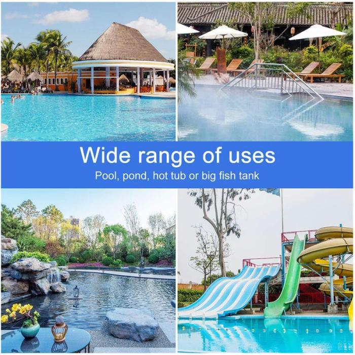 1pcs Blue Pool Cleaning Net Professional Tool Grade Fine Mesh Pool Skimmer Leaf Catcher Bag Pool Swimming Cleaners Accessories