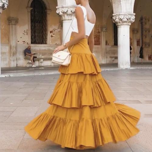 Women's Fashion Stitching Skirt Two-Piece
