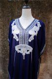 Maxi Boho Dress, Beach Dress,  Kaftan, Embroidered Dress, Navy Floral