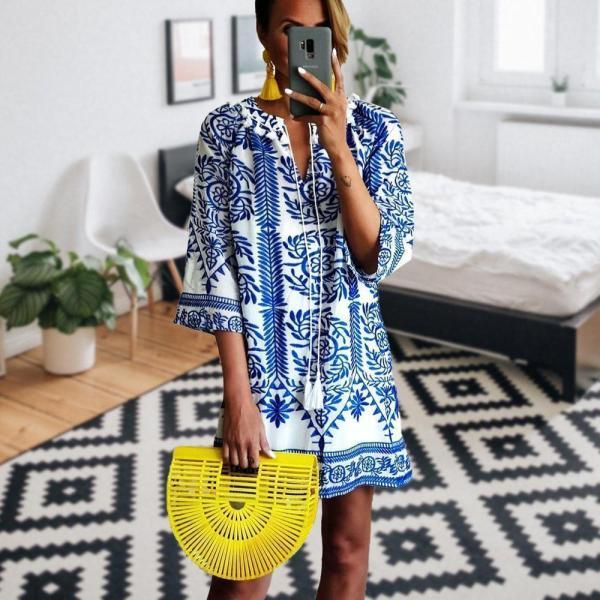 Bohemian Printed Casual Dress
