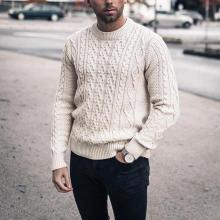 Simple men's crew neck sweater