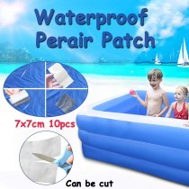 10pcs Waterproof Repair Tape Transparent Self Adhesive Repair Patches For Inflatable Swimming Pool Puncture Repair Patch Kit D2
