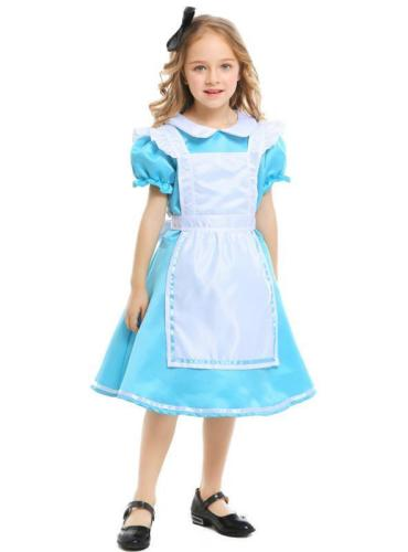 Halloween Dress Costume Alice in Wonderland Maid