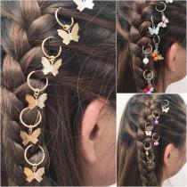 6pc Butterfly DIY Pendant Hair Accessories Hair Clip for Women Street Braid Trend Headdress Girls Hairpins Hair Accessories 2020