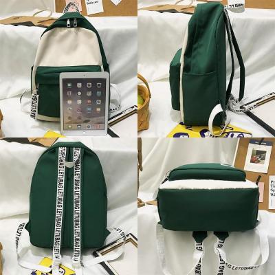 Student Nylon Female Backpack Cute Women School Bag Teenage Girl Kawaii Backpack Harajuku Ladies Fashion Bags Luxury Book Letter