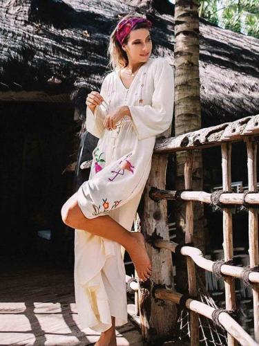 Bohemia V-neck Floral Maxi Dress