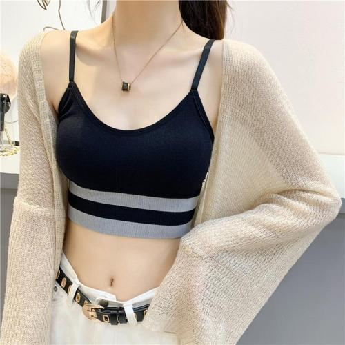 Women Striped Camisole Casual Tank Tops