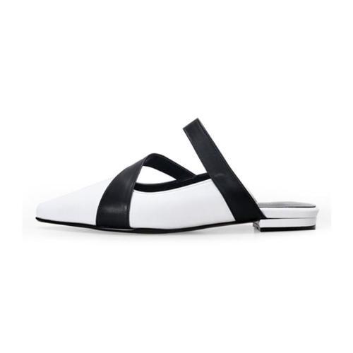 Fashion Pointed Head Plain Bow Flat Sandal