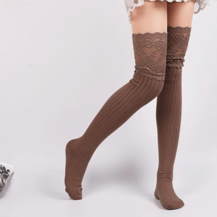 Fashion Long Tube Over The Knee Pile Of Stockings