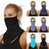 Women Face Mask Summer UV Protection Scarf Sun Protection Printed Mouth Cover Breathable Cyling Hiking Outdoor Dustproof Masks