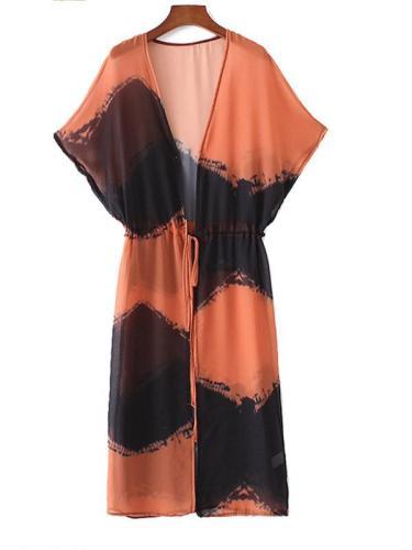 Womens Elegant Chiffon Beach Dress Cover Up