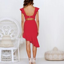 Fashion Sleeveless Slim Midi Evening Dress
