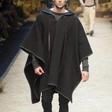 Casual Loose Gray Drawstring Irregular Hem Midi Cloak Sweater