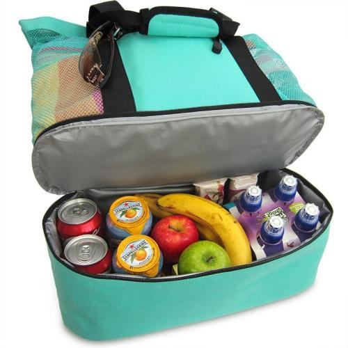 Picnic Insurance Bag Ice Insulation And Cold Preservation Fresh Outdoor Beach Green Bag With Zipper Cooler