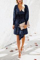 Sexy V Neck Sequins Long Sleeve Short Mini Dresses