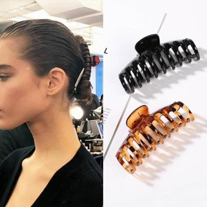 1Pc Korean Solid Big Hair Claws Elegant Acrylic Hair Clips Hairpins Barrette Headwear for Women Girls Hair Accessories