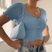 Tank Crop Tops Y2K Women Knitted Ribbed Tops