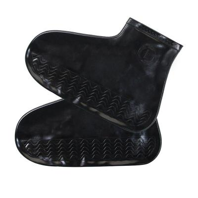 1 Pair Silicone Reusable Latex Waterproof Rain Shoes Covers Slip-resistant Rubber Rain Boot Overshoes Shoes Accessories