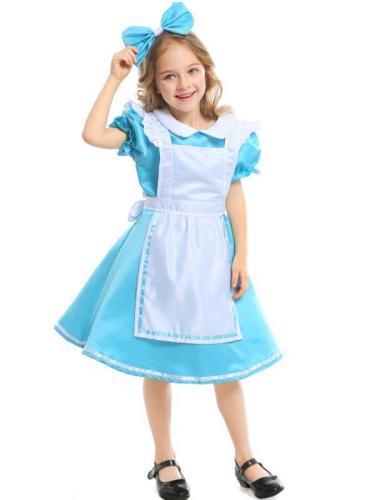 Halloween Dress Costume Alice in Wonderland Maid