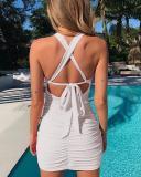 Sleeveless Tailored Halter Dress