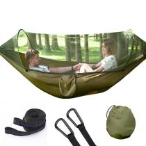 Hammock with Anti-mosquito Outdoor Double Nylon Parachute Cloth Camping Mosquito Net Hammock for Mosquito Control Hammock Camp