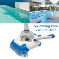 1PC Swimming Pool Suction Vacuum Head Brush Cleaner With Portable Buckle Handle Pool Suction Cleaning Tool Outdoor Accessories
