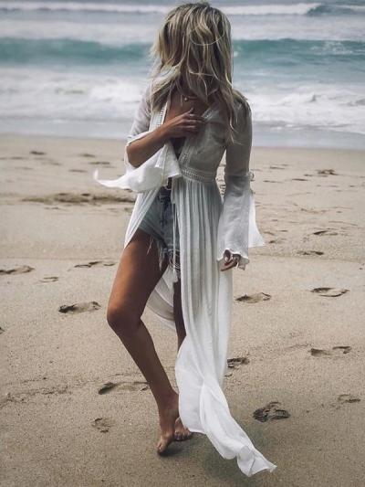 Backless Strap Fashion Cover-up Swimwear