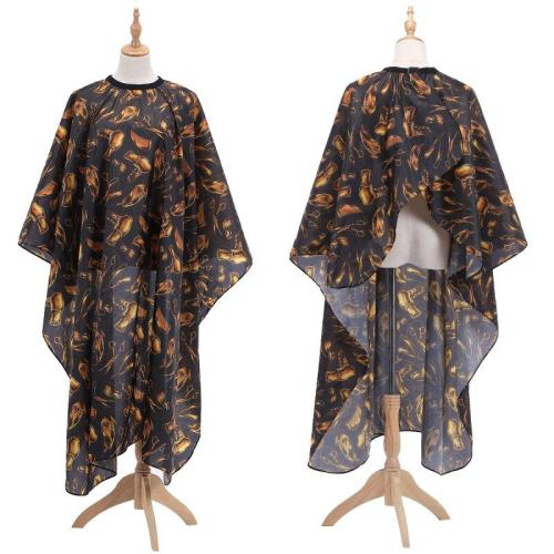 New Hairdressing Cloth Golden Pattern Apron Polyester Haircut Cape Wrap Hair Styling Design Supplies Salon Barber Gown