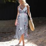 Summer NEW Fashion Womens Mother Casual Floral Falbala Pregnants Daily Dress For Maternity Clothes