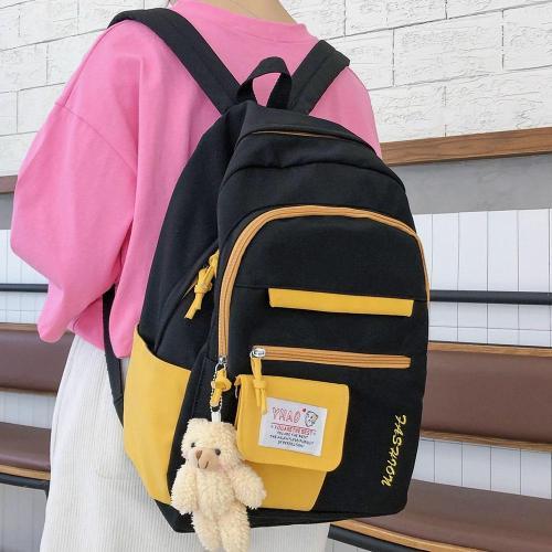 Cute Ladies Harajuku Backpack Female Kawaii Book Fashion Bag New Girl Waterproof Nylon Backpack Student Women School Bags Laptop