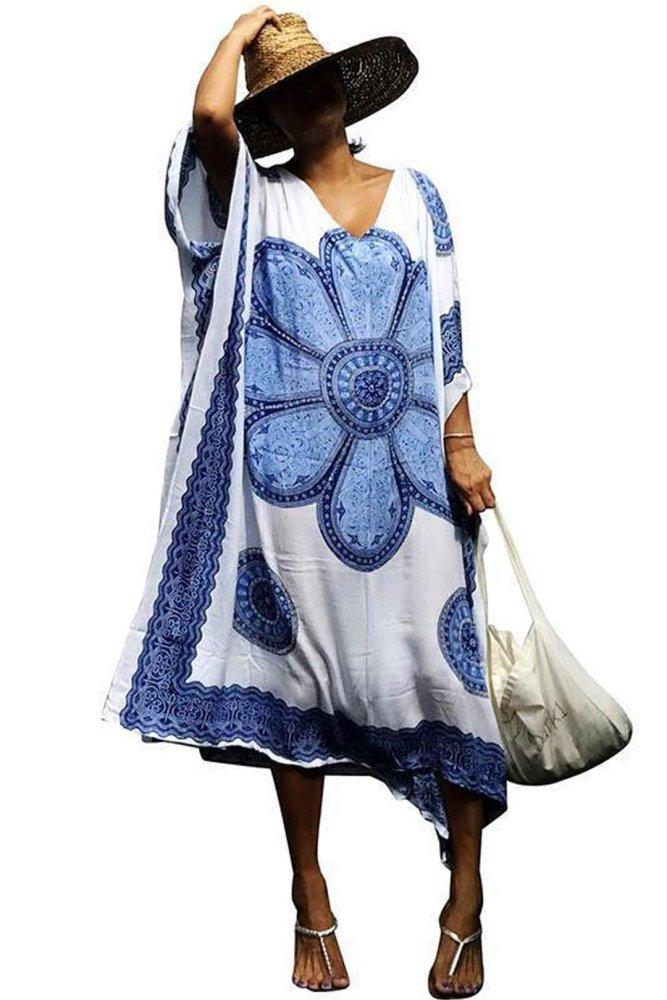 Maxi  Boho Dress, Beach Dress, Kaftan, Mandala (4 Colors)