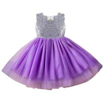 Baby Girls Sequins Mesh Princess Pageant Wedding Birthday Party Tutu Dress