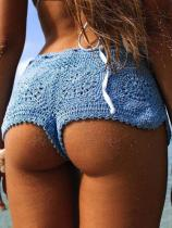 Beach Solid Crochet Short Bottom