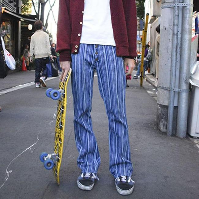 National Men's Printed Colour Pants