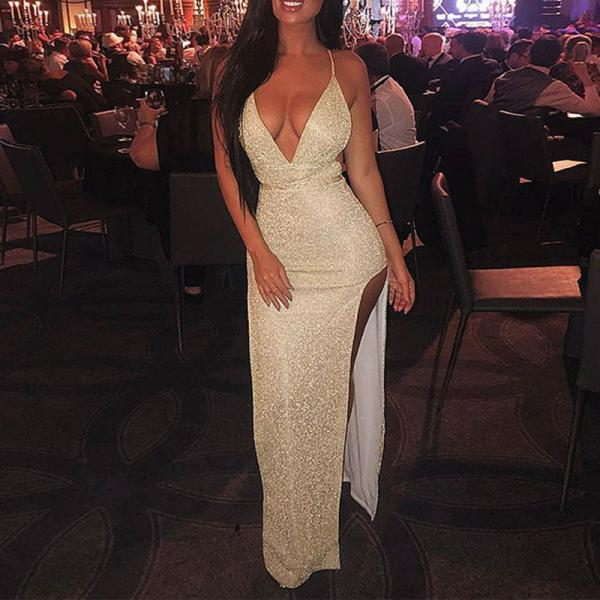 Fashion Suspenders Evening Dress