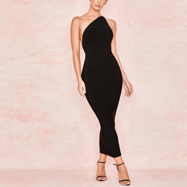 Tight Off shoulder Sleeveless Dress