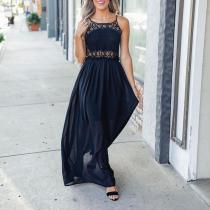 New Sleeveless Solid Color Maxi Dress