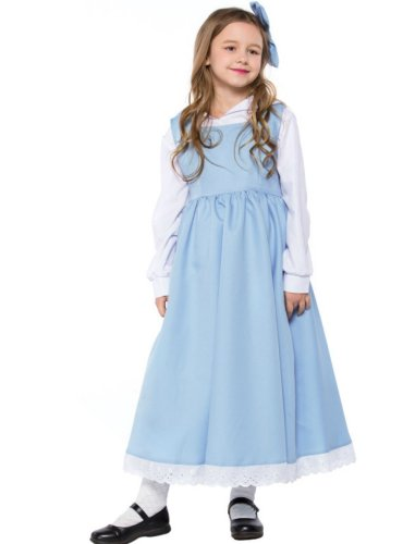 Children's Blue and White Maid Dressed in Fairy Tales