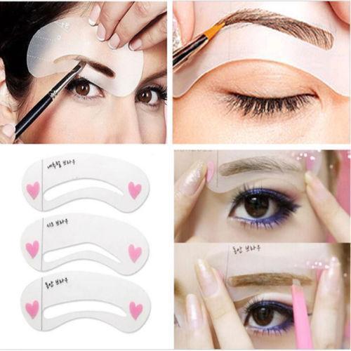 Stencil Kit Shaping Eyebrow Reusable Template (24Pcs)