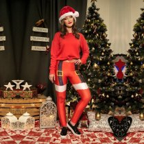 Christmas New Print Sports Leggings