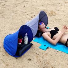 Beach Face Tent Umbrella + Air Pillow Outdoor Portable Small Awning Ultra-light Folding UV Protection Sun Shelter & Air Cushion
