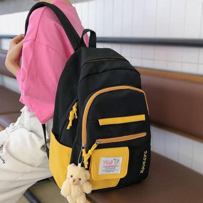 Girl Waterproof Nylon Backpack Student Women School Bag Laptop Cute Ladies Harajuku Backpacks Female Kawaii Book Fashion Bag New