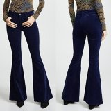 Fashion Casual Sexy Slim Bell Bottoms Package Buttocks Pants