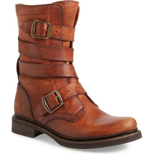 Women's Retro Solid High-Top Chunky Heel Martin Boots