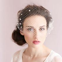 2020 Women Bridal Hats and Fascinators Pearls Beaded Wedding Hair With Comb Women Head Wear