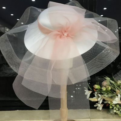 Elegant Women Wedding Hats Bridal Party Church Cap Church Hat Summer Wide Brim Hat Fedoras