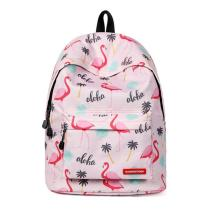 Fashion Women Bagpack Cute Pink Flamingo Animal Printing School Backpack for Teenage Girls Waterproof Knapsack Mochila