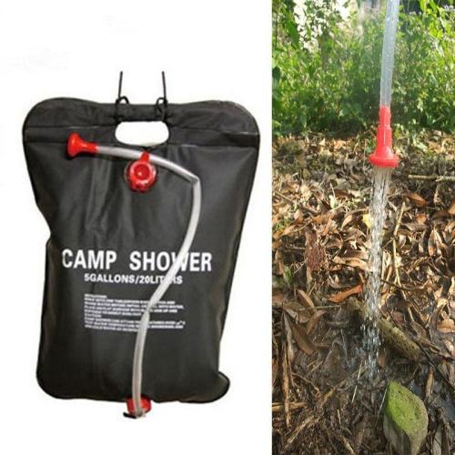 20L Camping Solar Heated Shower Bag Fishing Camping Picnic Bag Hiking Water Storage