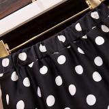 2020 Summer Women Midi Skirts Korean Boho Bohemian Ruffles Ladies Beach Holiday Polka Dot Layer Flare Pleated Skirt For Women