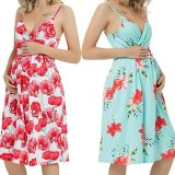 New Style Pregnant Women Floral Long Maxi Dresses Maternity Gown Photography Photo Shoot Clothes Pregnancy Summer Beach Sundress